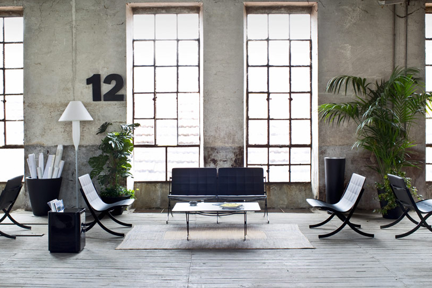 Mies van der Rohe's Barcelona chair was re-interpreted by Deep Design for Italian brand Serralunga.