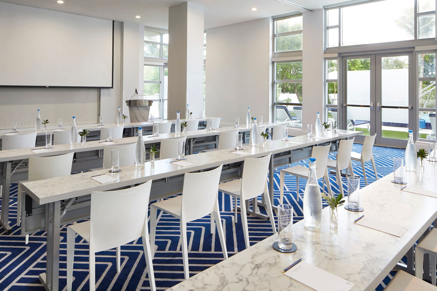Miami Beach's newly opened Cadillac Hotel & Beach Club debuted over 11,000-square-feet of indoor and outdoor flexible meeting and gathering spaces.