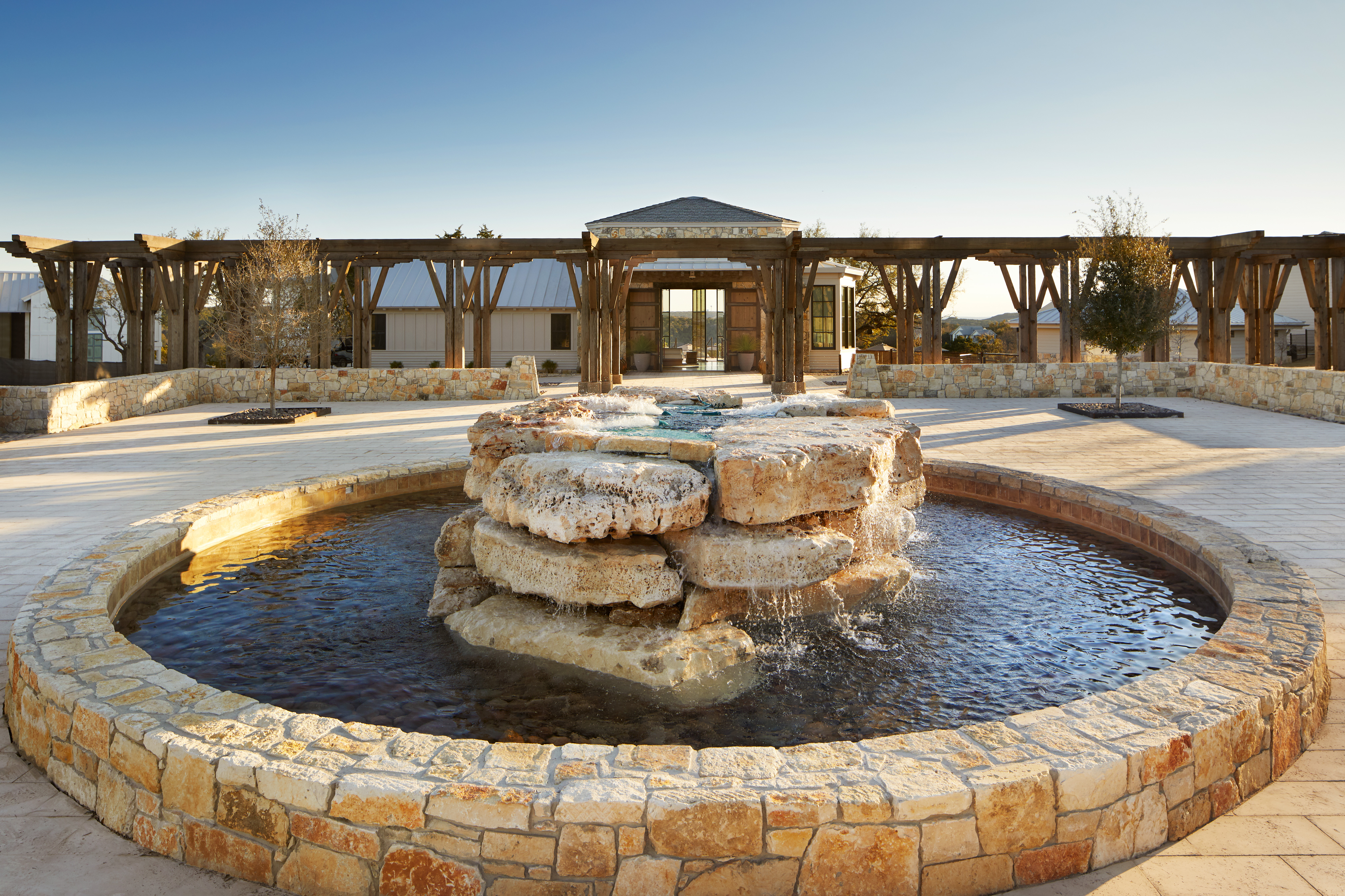 Outdoor Arrival Center // Courtesy of James Baigrie for Miraval Austin