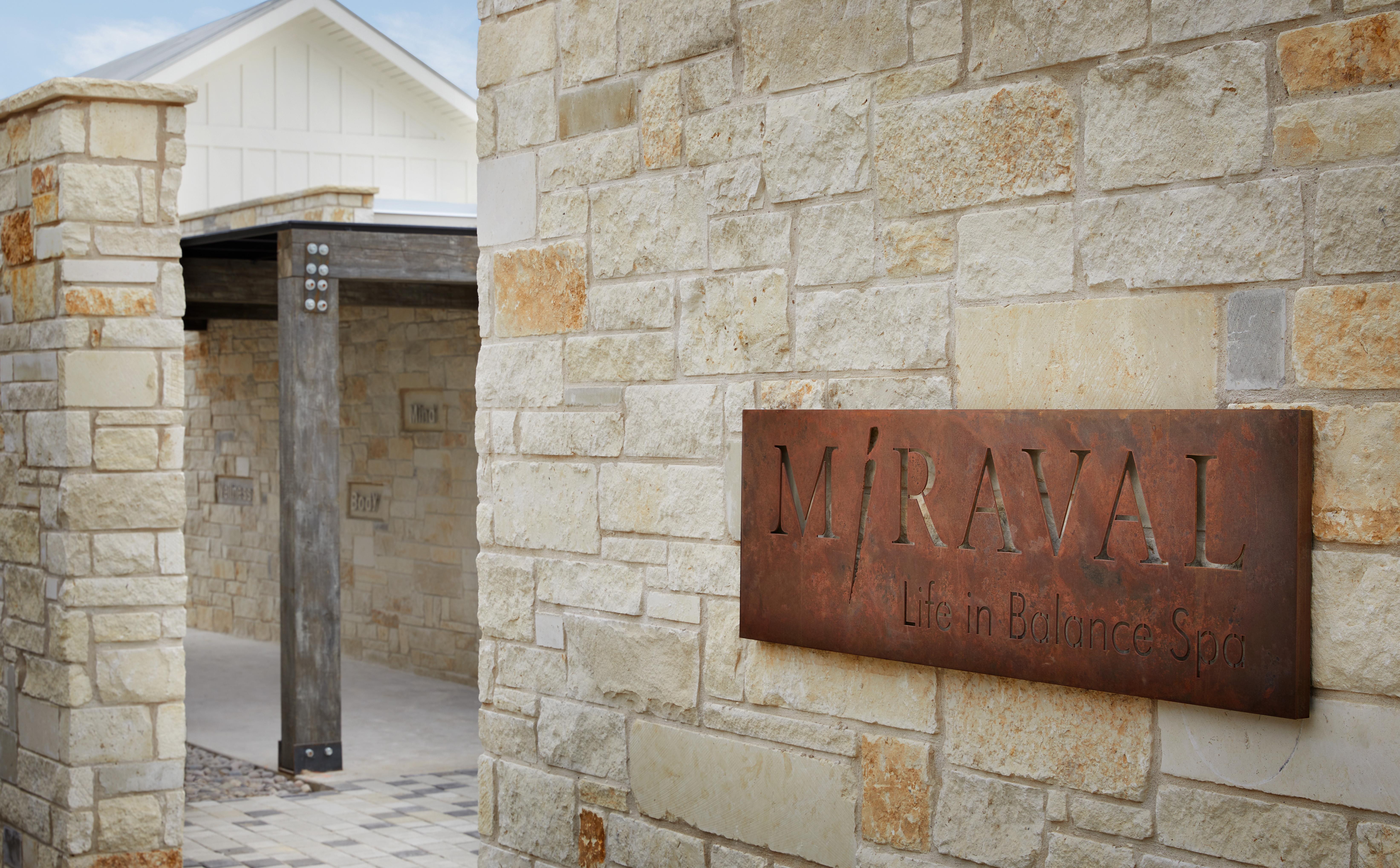 Miraval Austin entrance // Courtesy of James Baigrie for Miraval Austin