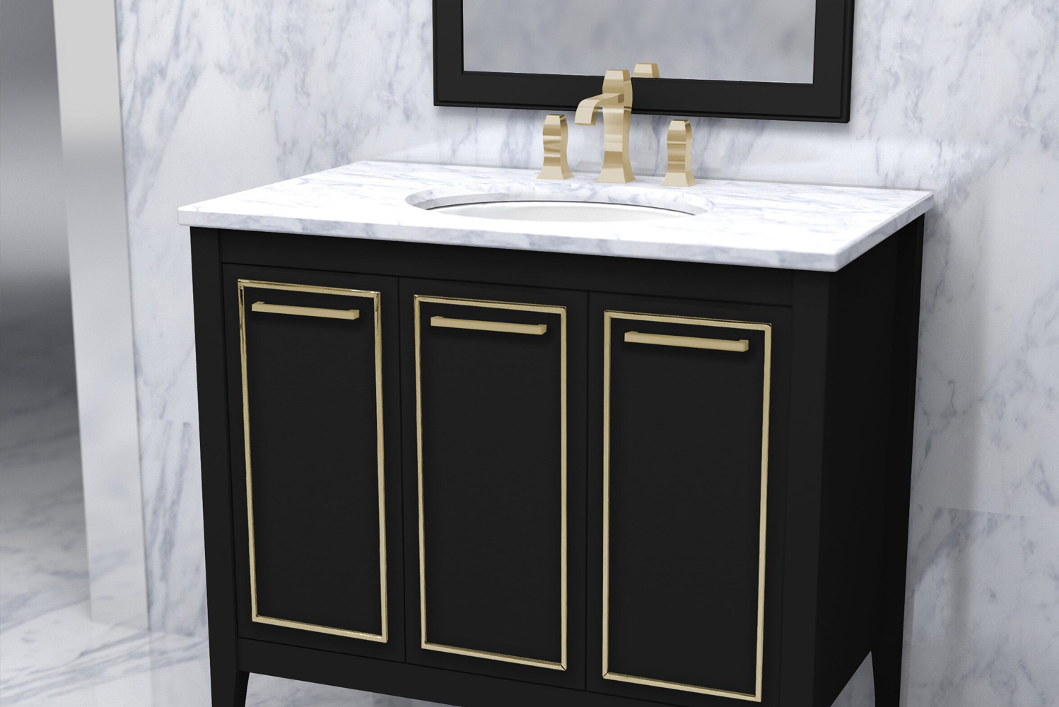 Furniture Guild launched its newest transitional vanity, the Lydia.