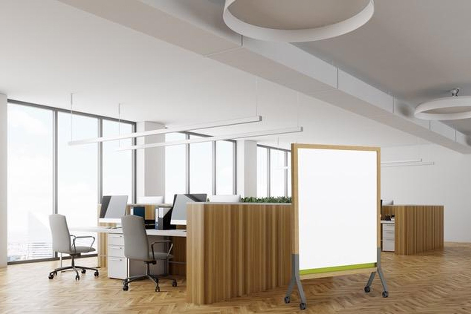 Mix is a line of customizable mobile and wall-mounted markerboards composed of wood and metal in a variety of finishes and details.
