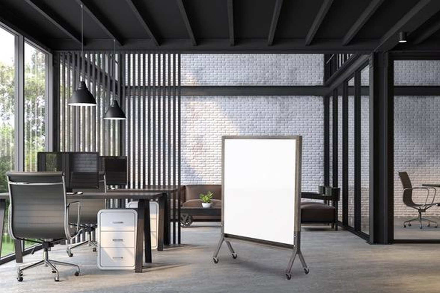 Mix enables a designer to customize virtually every board-system component – from colors, finishes and writing surfaces to metal trays, bases and accent strips.