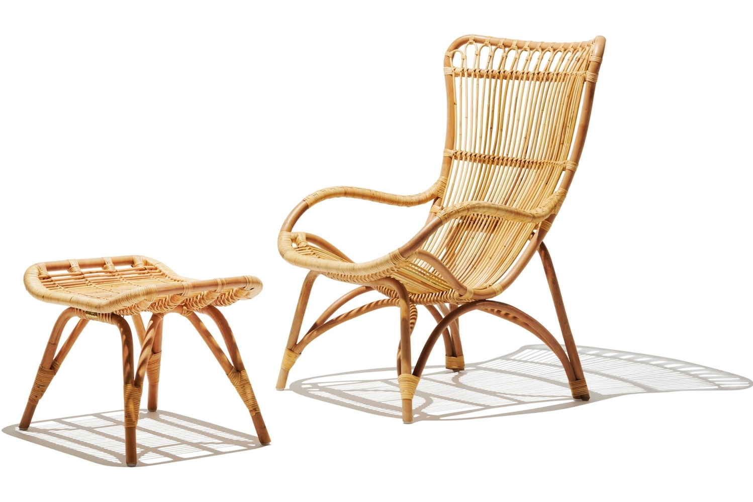 The Monaco collection is made of rattan.