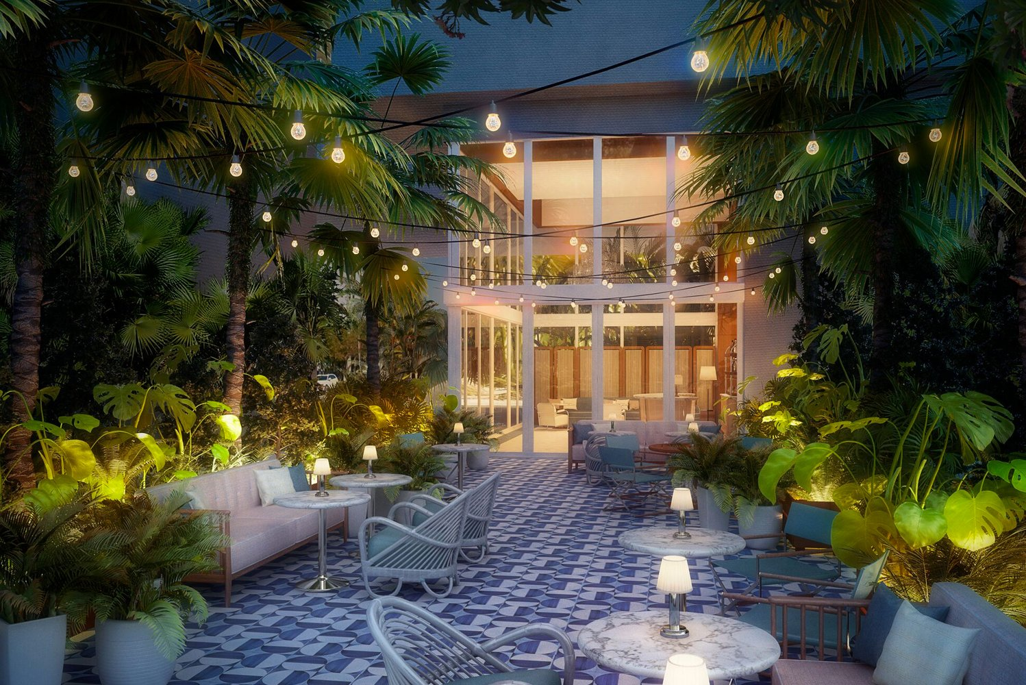 The restaurant will have indoor and outdoor seating in Miami modern style.
