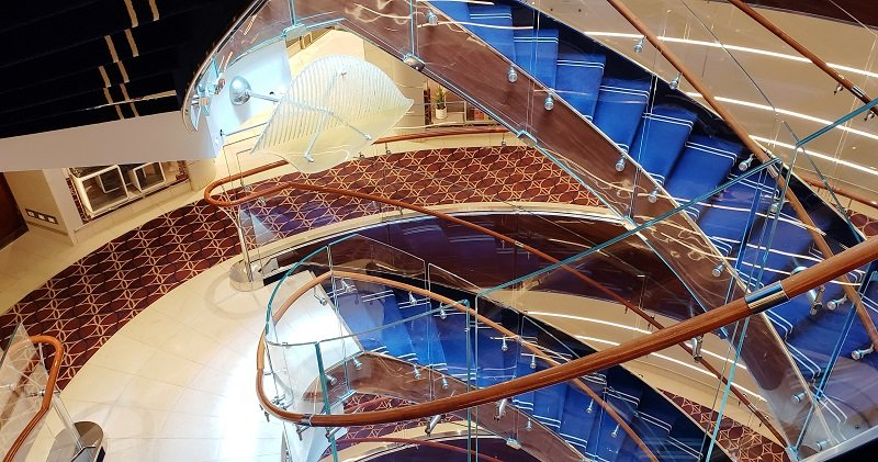 Staircase on Seabourn Ovation