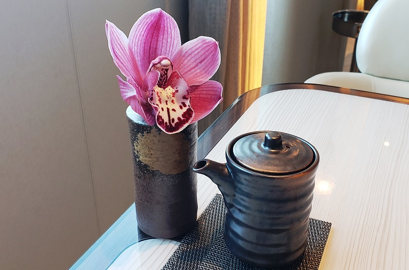 Orchid on the table at Sushi