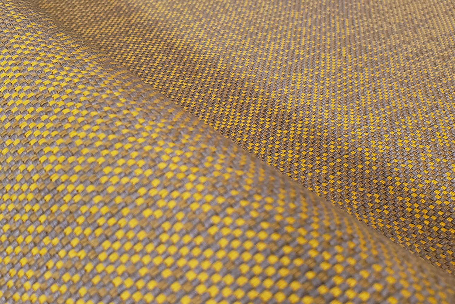 Walker is a digitally pixelated texture on jacquard woven textile, with highly contrasted dyes giving Walker a worn-out effect.