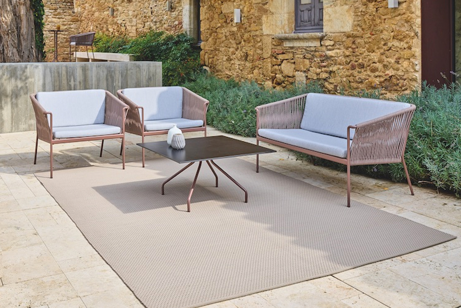 Weave is a collection of outdoor furniture.