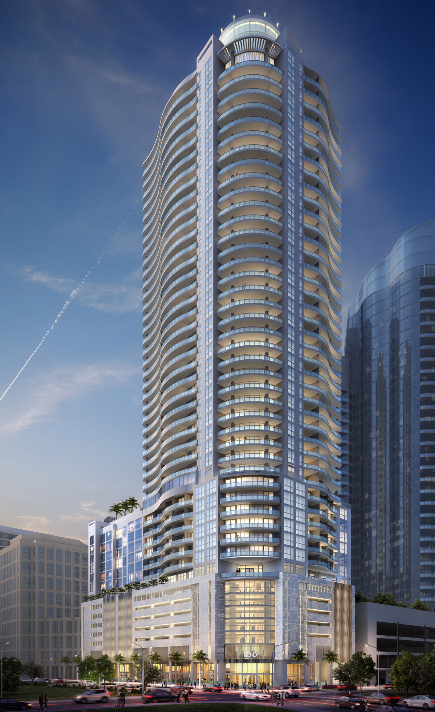 Designed by SB Architects, the property is set to be the tallest building in downtown Fort Lauderdale, with 46 levels.