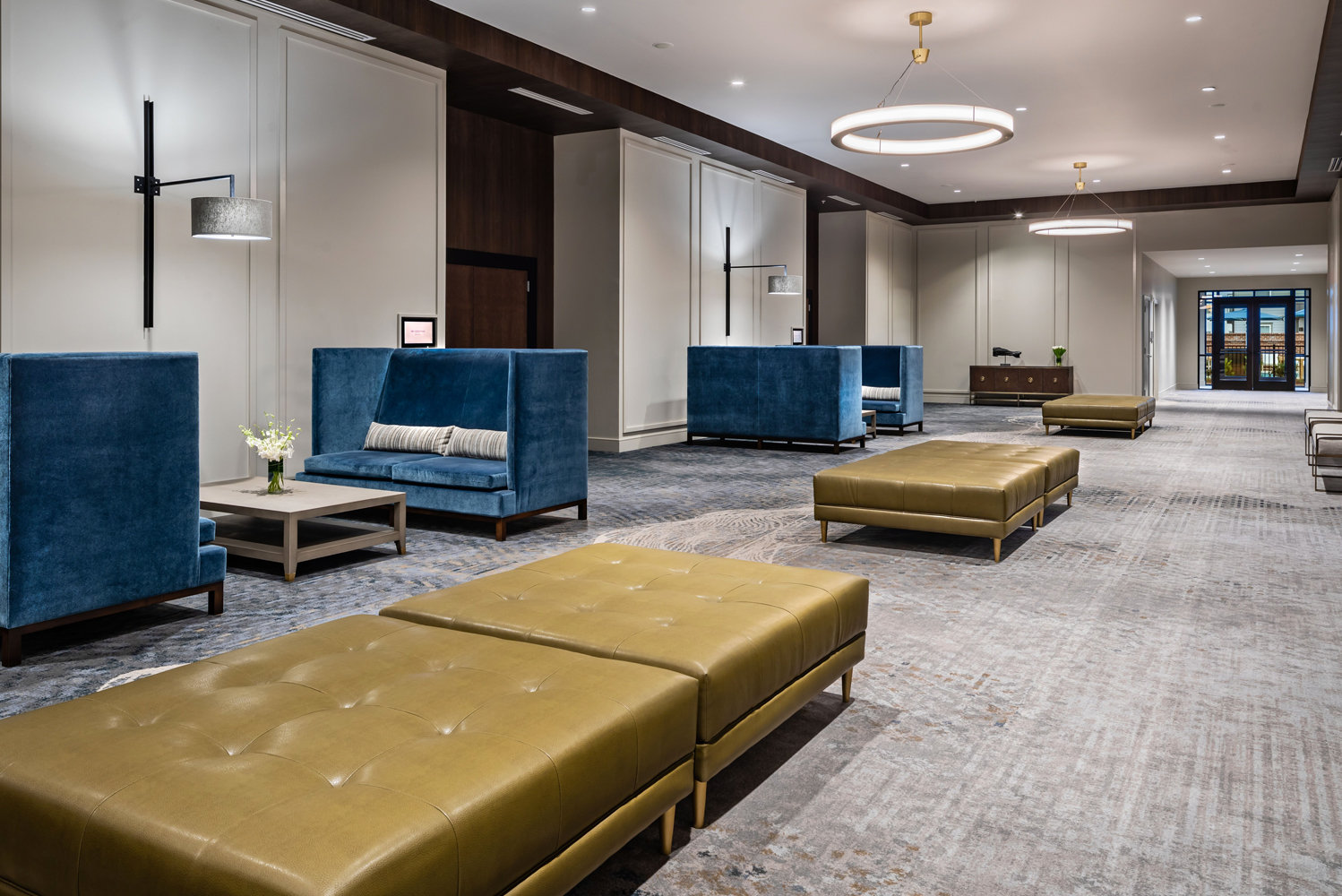 Additionally, there is pre-function space and four meeting rooms that can be used for breakout space.