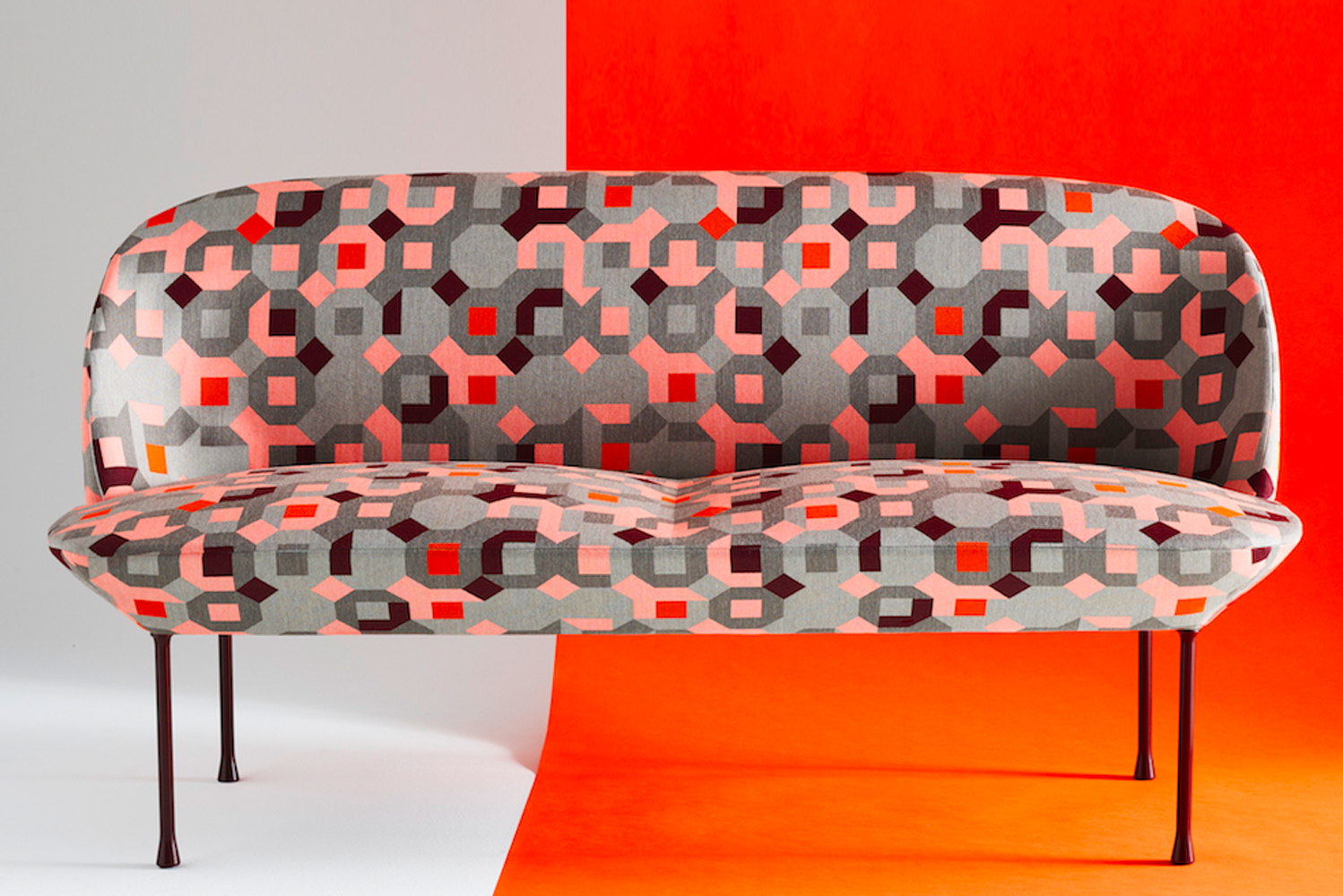 All the fabrics are high-performance, exceeding 100,00 double rubs, and two patterns join Carnegie's Elements collection of upholsteries under $40 per yard.