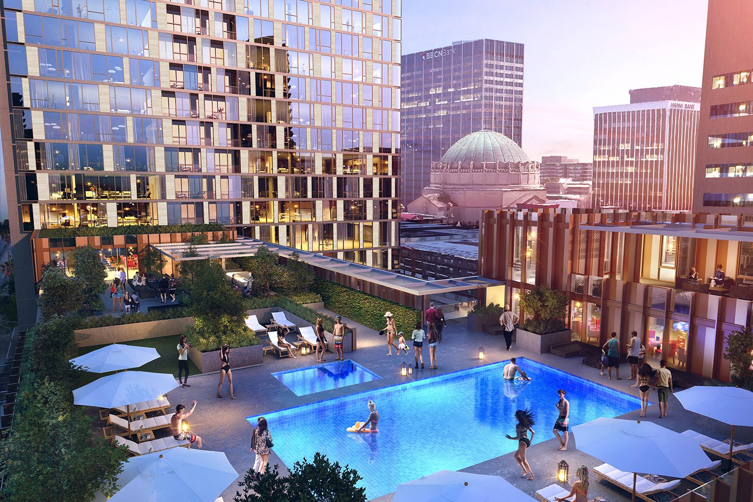 The first Hyatt Centric hotel is slated to open in Los Angeles' Koreatown. Photo credit: LARGE Architecture