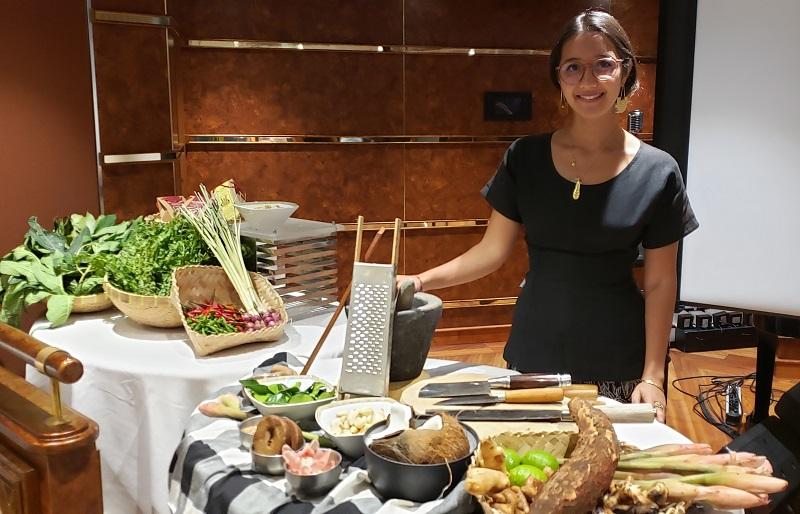 Food expert Maya Kerthyasa, a journalist from Bali, Indonesia