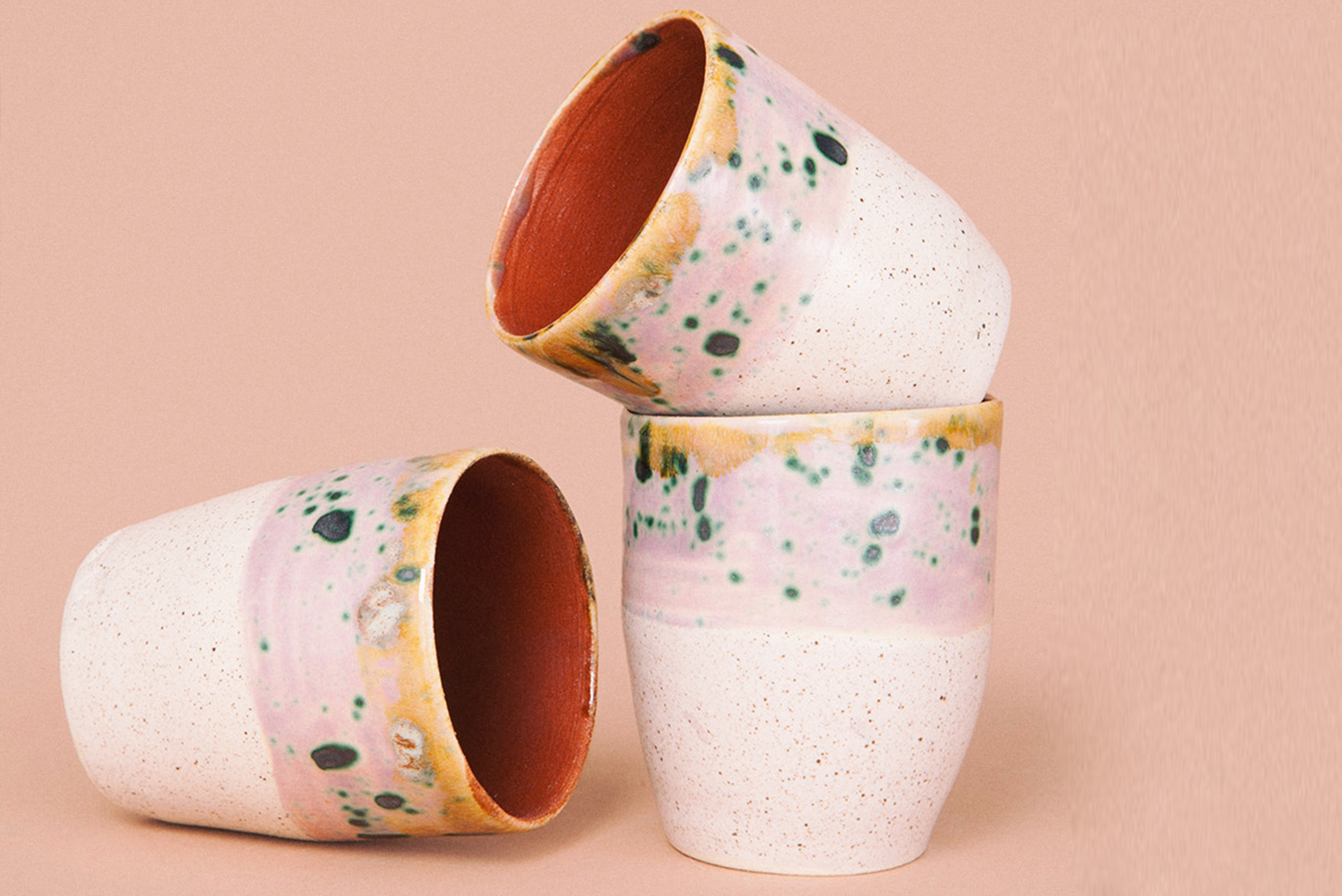 Some of the ceramics come in browns, turquoise and golds.