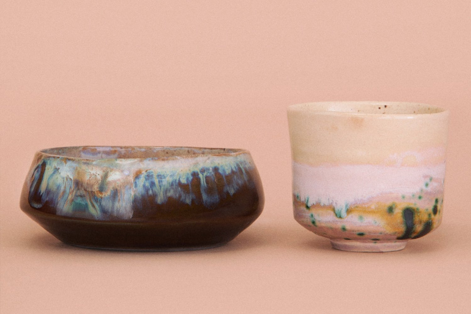 Originated from an ancient Japanese technique called Raku, the pieces come alive from special chemical processes.