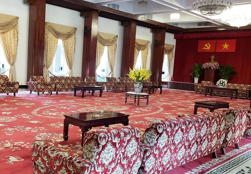 Interior of Reunification Palace, South Vietnam's former Presidential palace.
