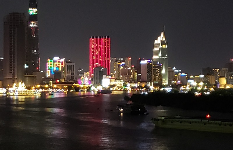 Night-time in Ho Chi Minh City