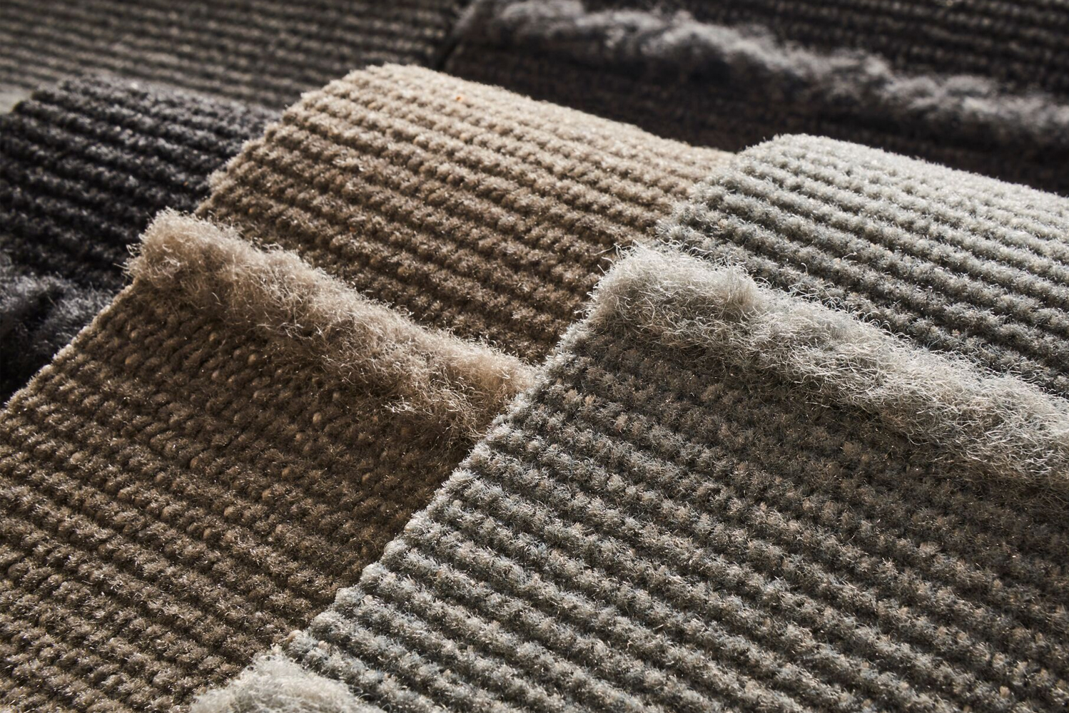 Made with solution-dyed yarn to conserve water, the entire collection is suited for workplace and hospitality environments.