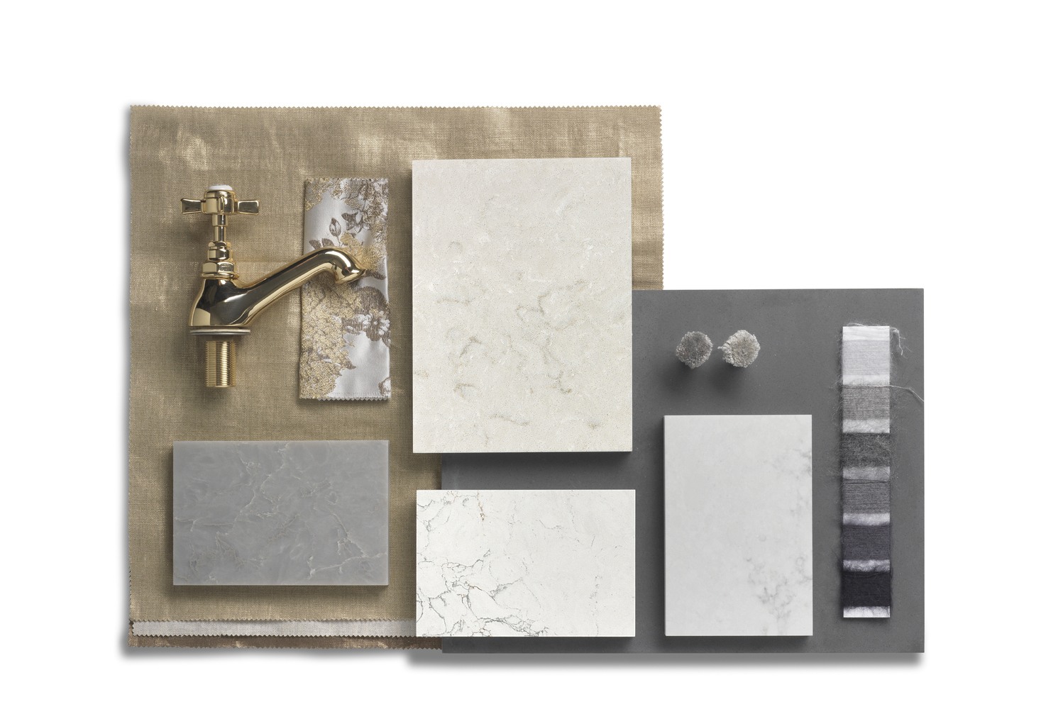 Corian solid surface includes five collections: Aggregate, Terrazzo, Linear, Nuwood and Onyx aesthetics.