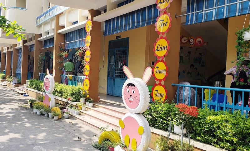 Kindergarten in Hoa Chau, Vietnam, outside Da Nang