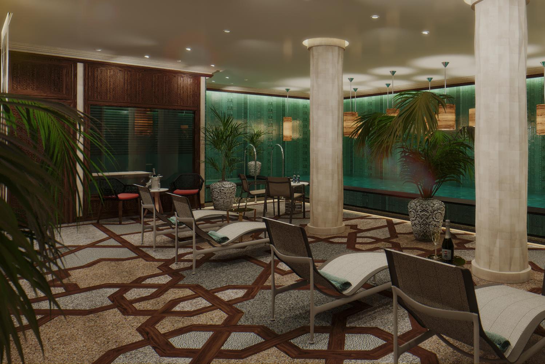 The hotel interiors are the work of Swedish designer Magnus Ehrland.