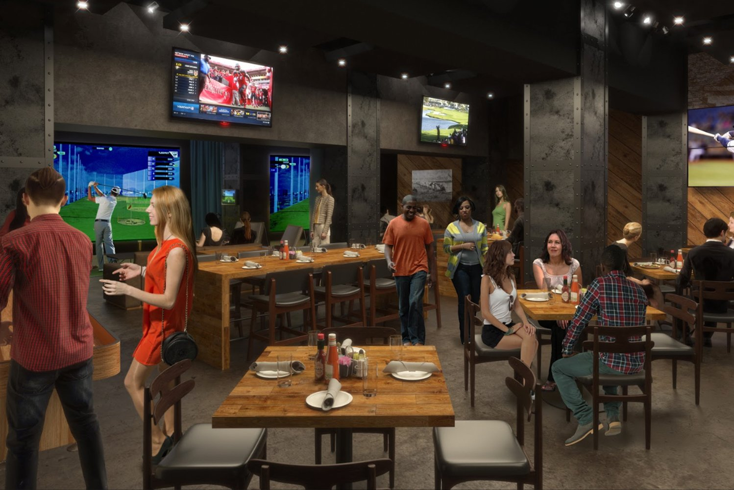 Garrison Tavern also has two large media walls, consisting of nine screens each, and over 35 individual TVs, spread throughout the venue.
