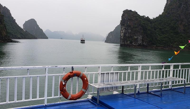 The hauntingly beautiful scenery of Ha Long Bay.