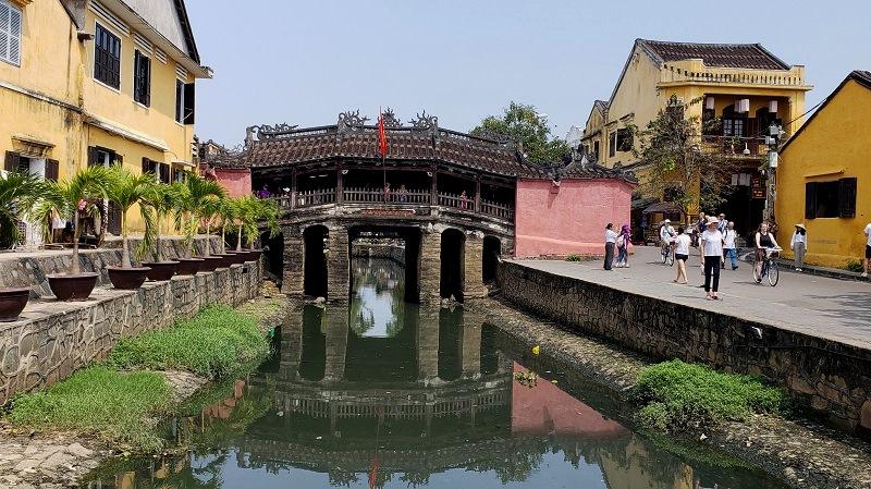 Centuries-old Japanese Bridge at Hoi An