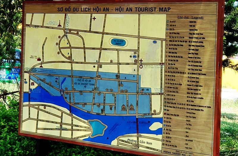 Map at the entry point to Hoi An, a UNESCO World Heritage Site.
