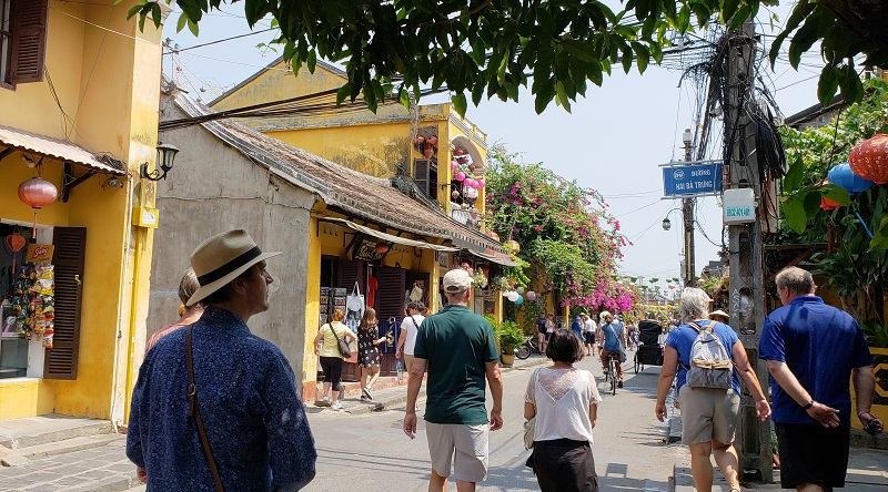 A pedestrian street in Hoi An.