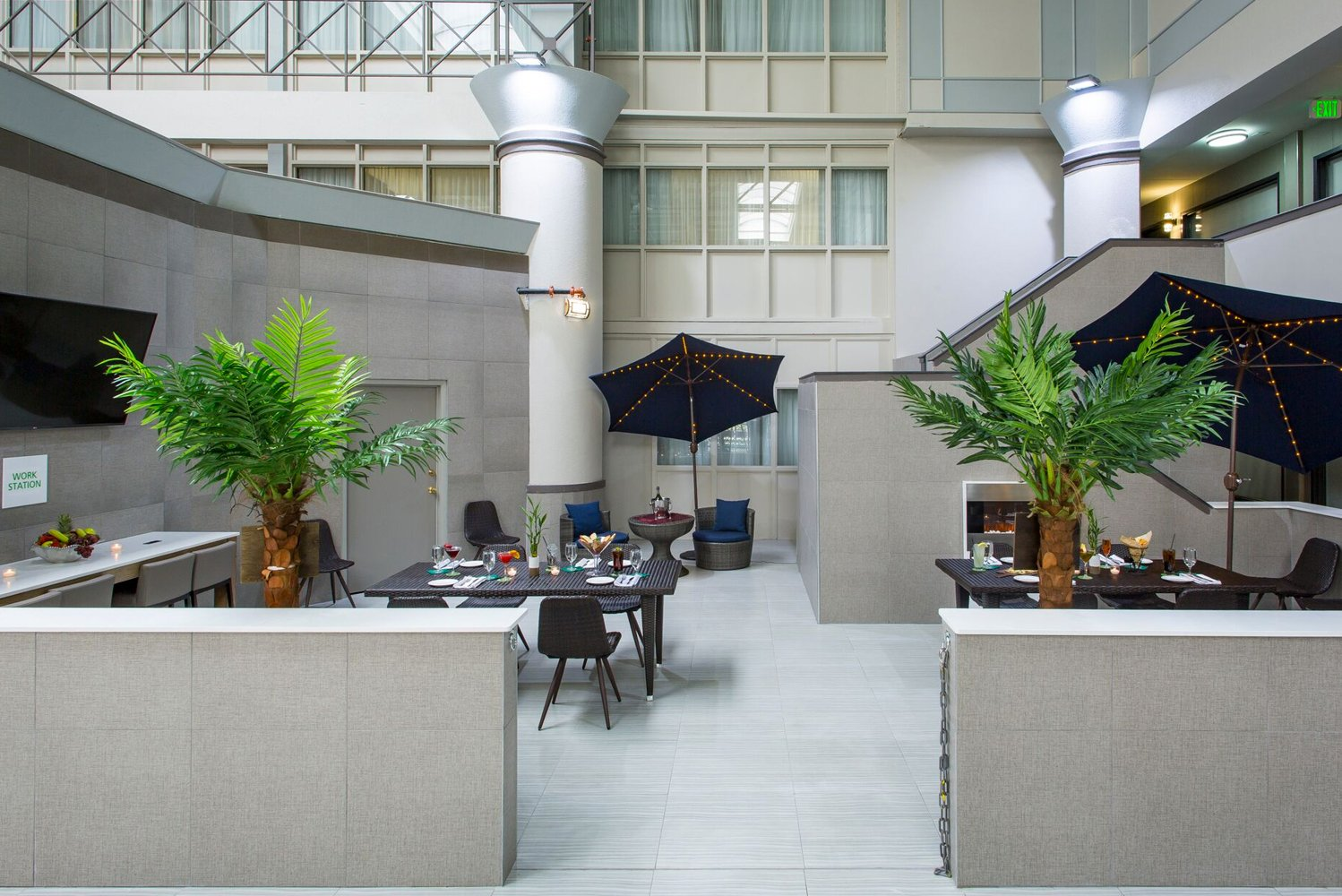 The property-wide transformation included an overhaul of the hotel's 15,000 square feet of meeting space, in addition to a complete revamp of the 250 guestrooms, lobby, indoor pool and public spaces.