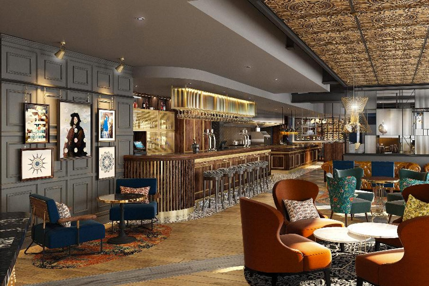 The 75-room new build hotel was designed by Franklin Ellis Architects.
