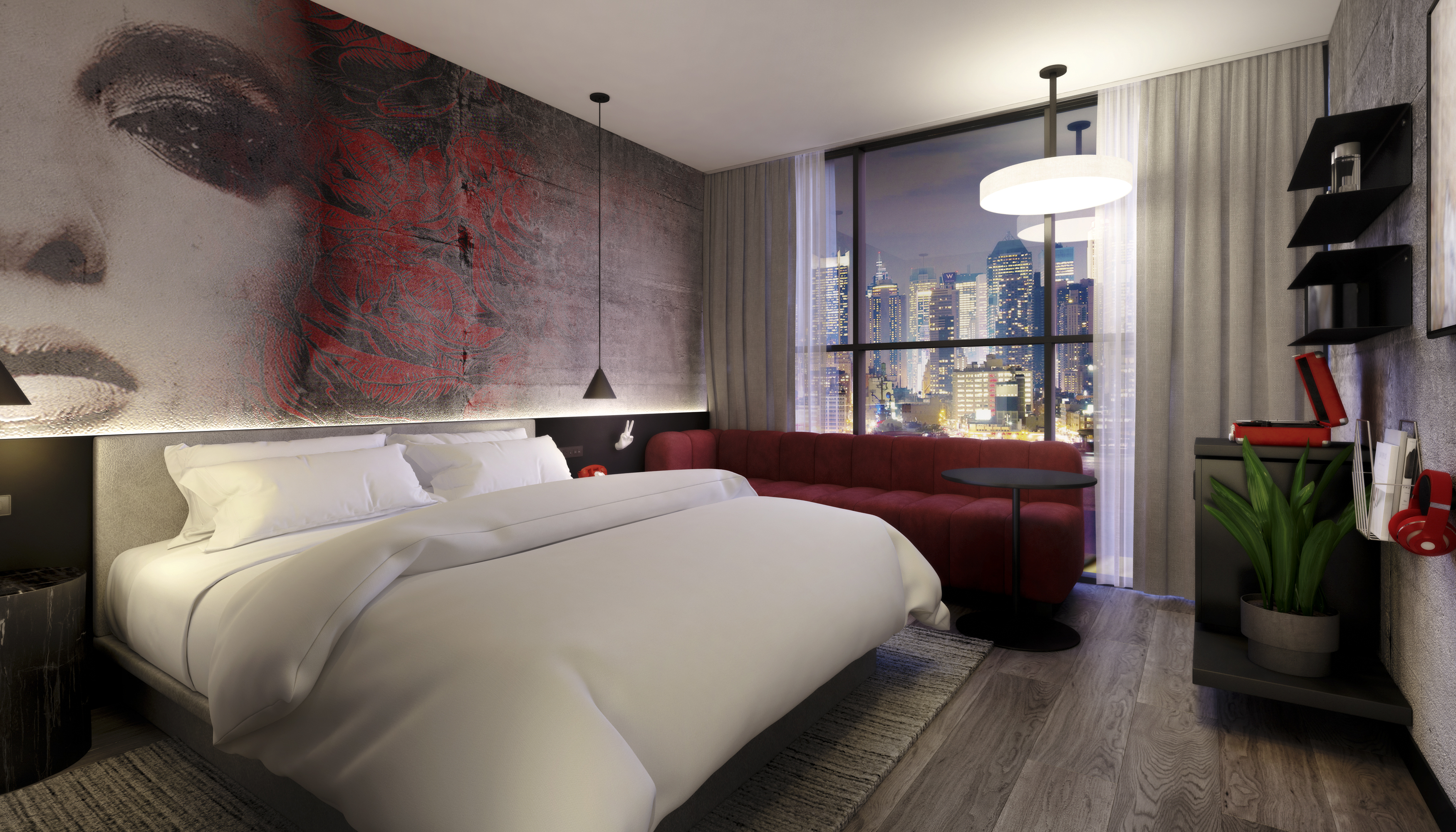 "Radisson calls its new Red rooms ""contemporary and edgy."""