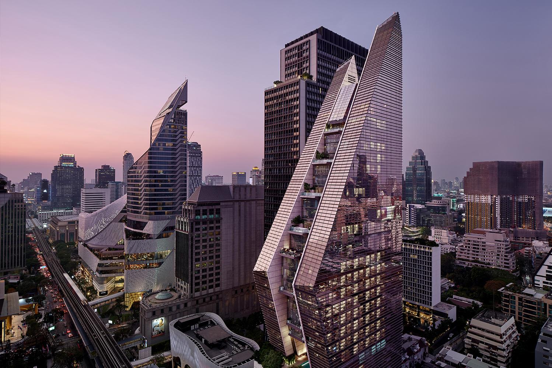 Kohn Pedersen Fox Associates (KPF) completed the new Rosewood Bangkok.