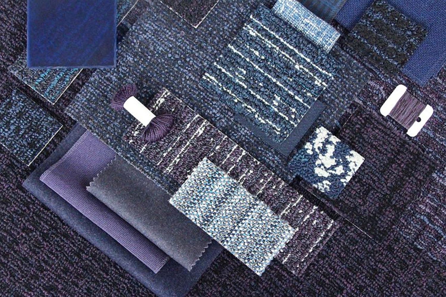 Four styles comprise the Second story collection from Interface Flor.