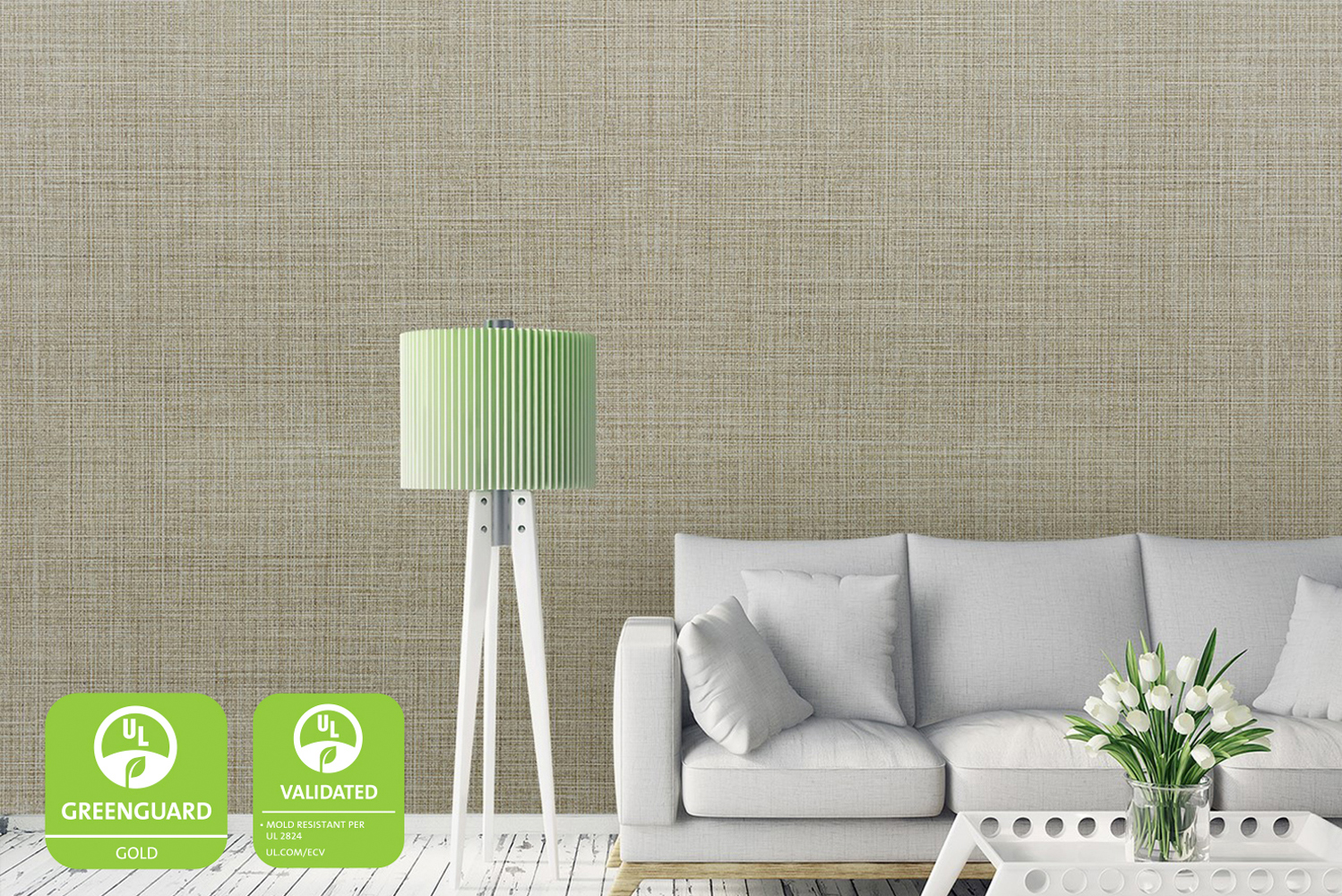 DuPont Tedlar wallcoverings were screened for more than 10,000 VOCs and undergoes both annual recertification and periodic testing to maintain this credential.