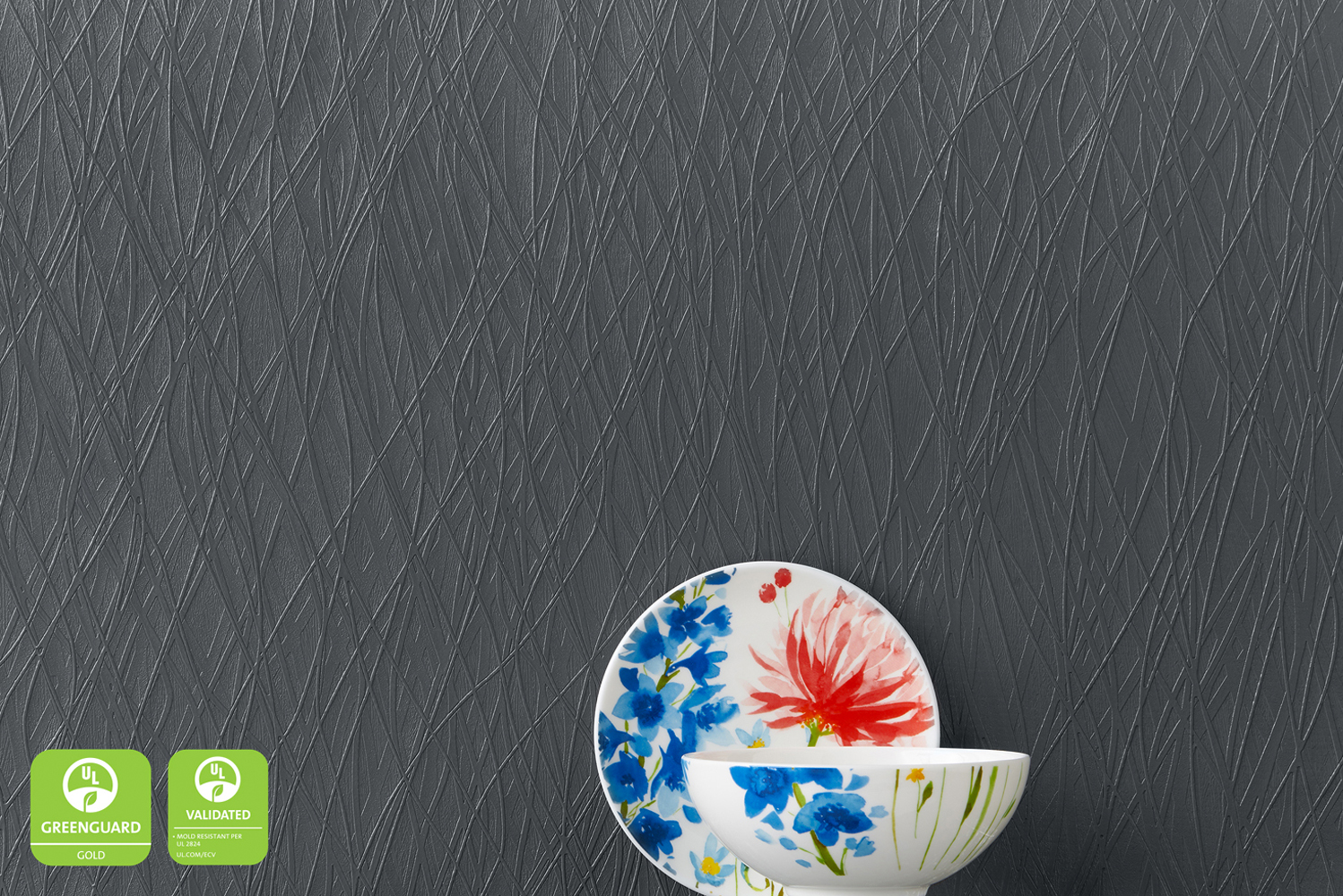 The wallcoverings also received an Environmental Claim Validation from UL for mold resistance.