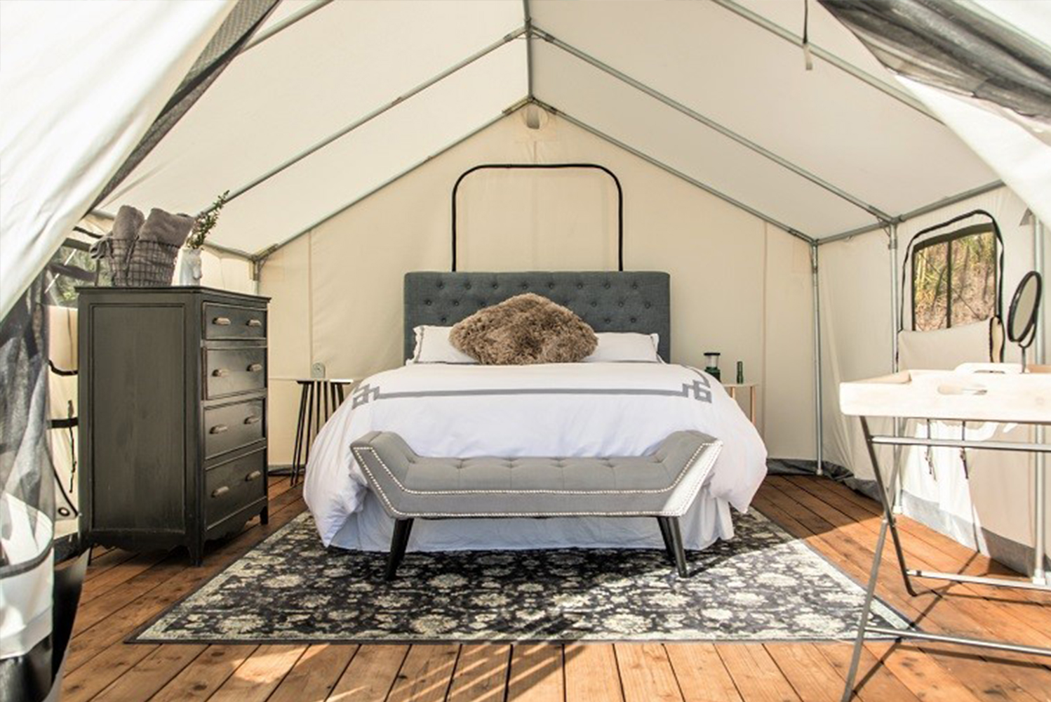 Terra Glamping will launch a new site overlooking Gardiners Bay in East Hampton's Cedar Point County Park at 5 Cedar Point Road, East Hampton, New York.