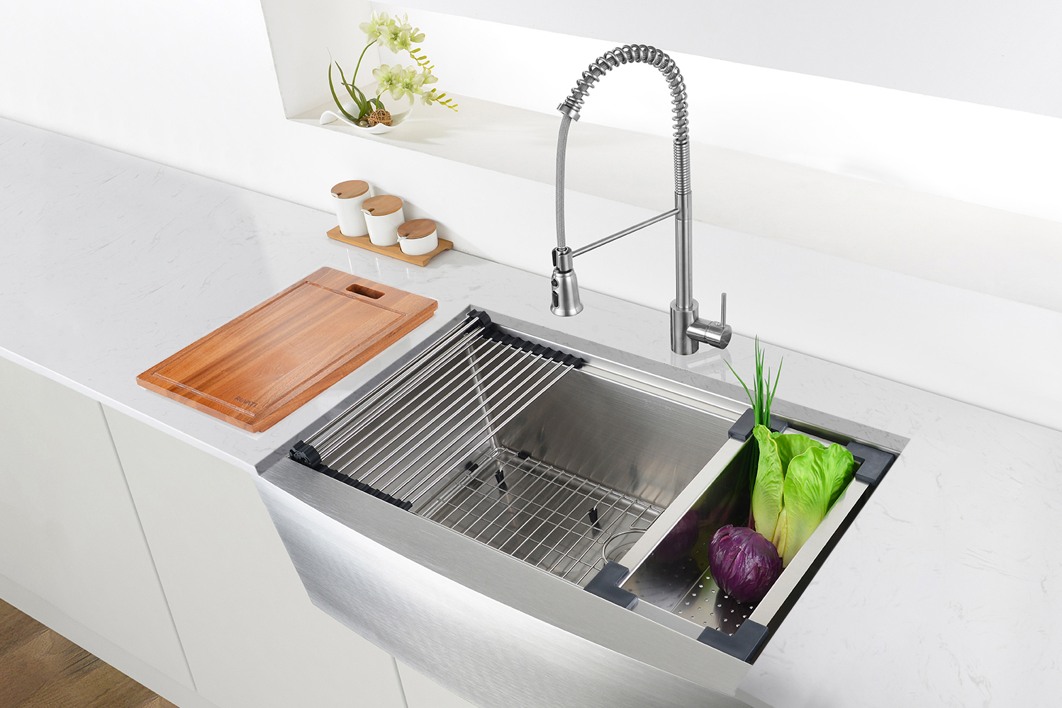 Ruvati launched Verona, a collection of workstation sinks.