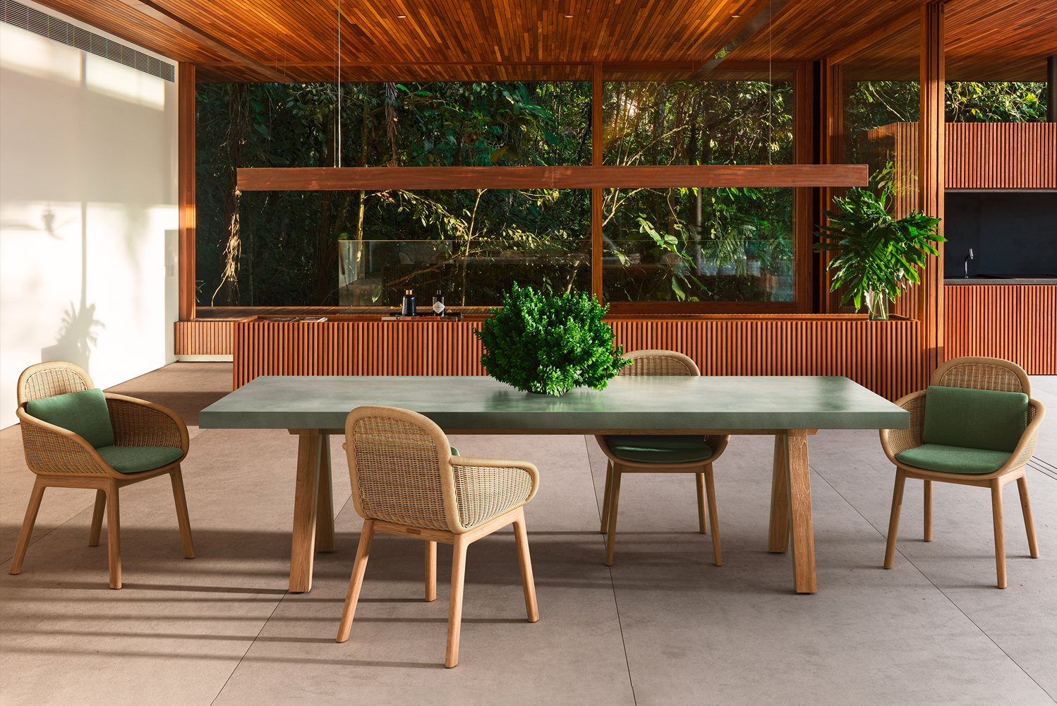 Vimini is a new collection of outdoor furniture.