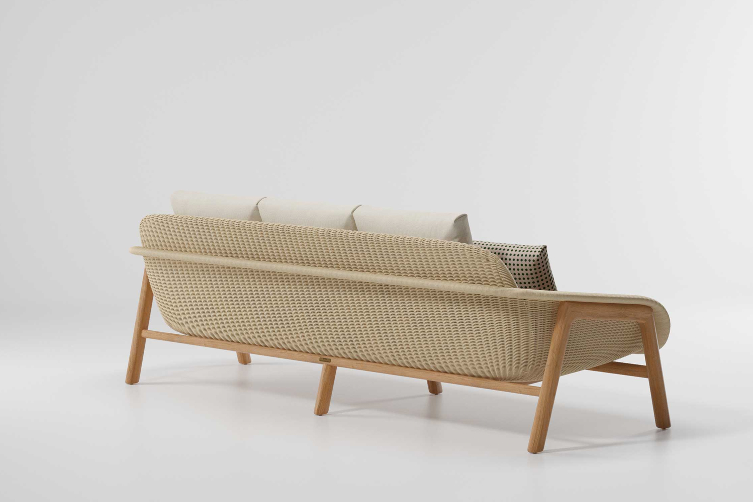 The collection includes a sofa in two sizes, a chair, a center table and a side table.