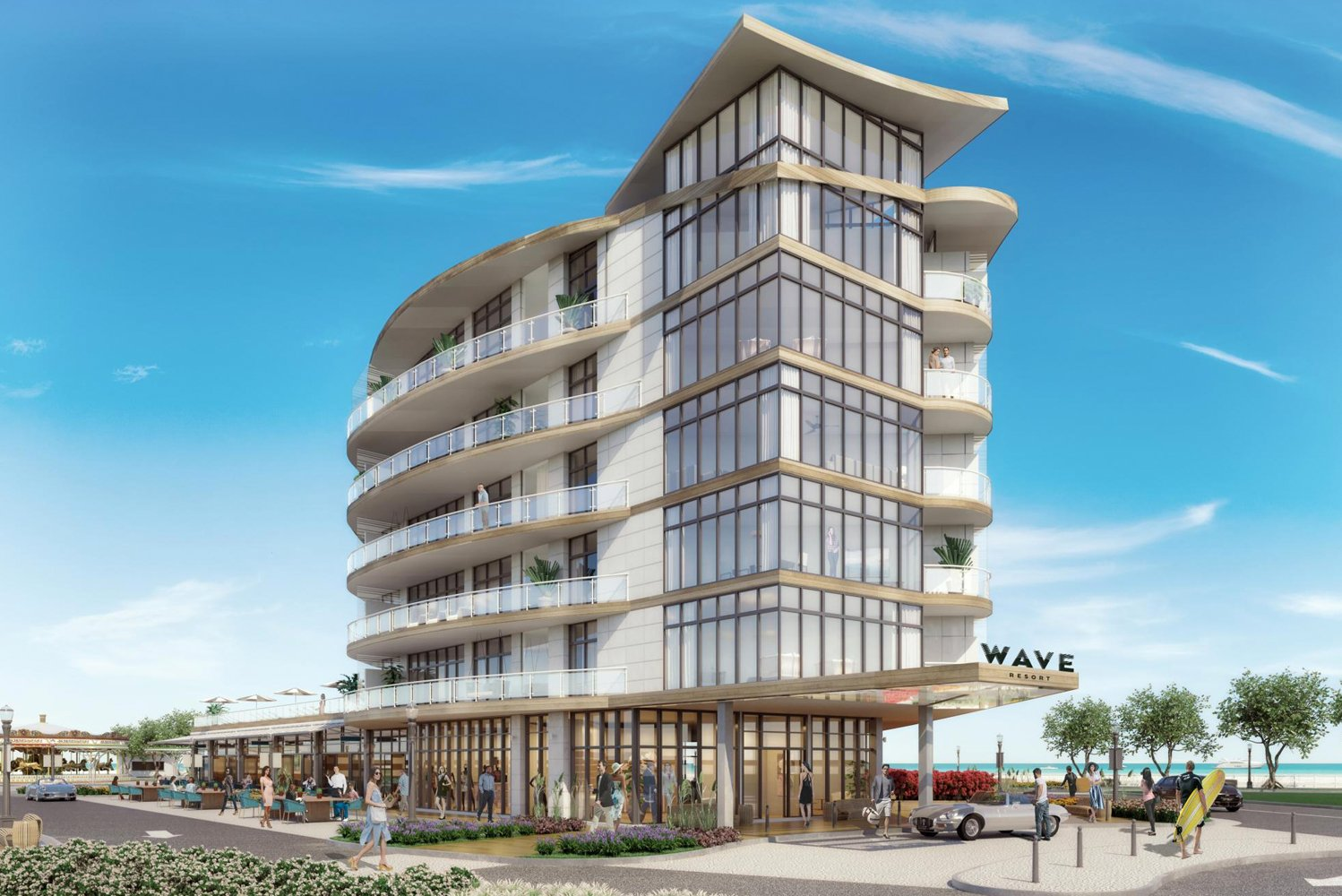 The property will have seven new restaurants and bars; an outdoor pool deck with fire pits and 180-degree beach views; and onsite spa, blow-dry bar and fitness center.