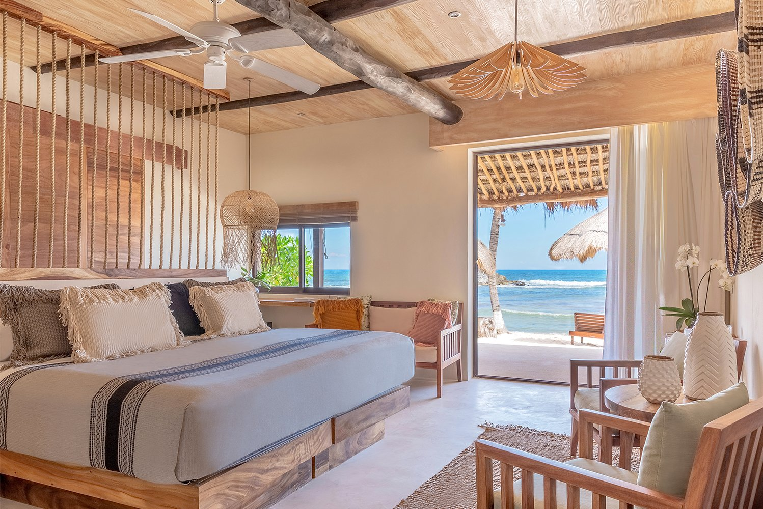 El Pez, a beachfront hotel in Tulum, Mexico, opened two on-the-beach rooms with plunge pools that may be heated.
