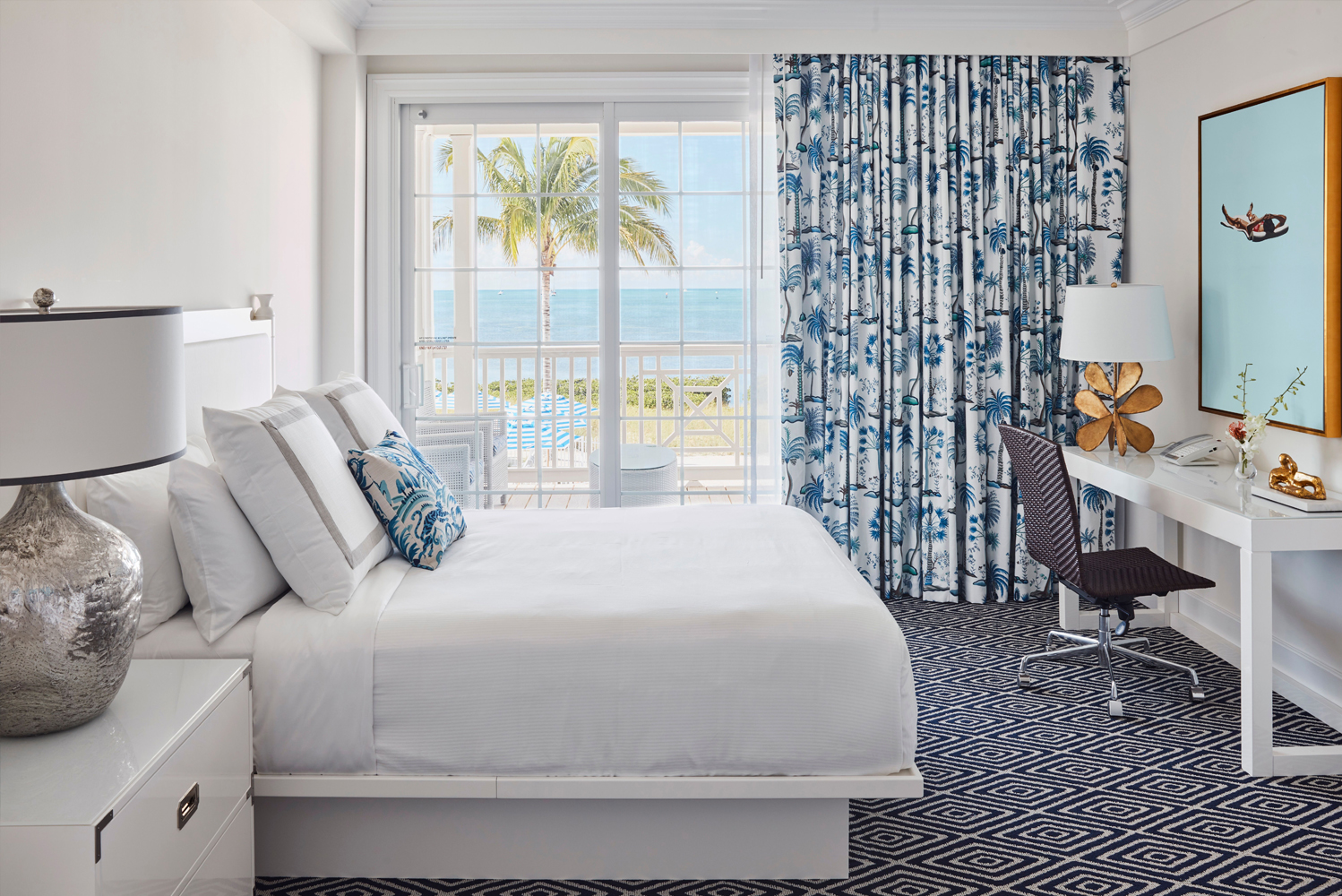 Key design elements in the guestrooms and suites include decorative archways, reclaimed ship wood, clapboard exteriors and open breezeways to emphasize indoor/outdoor living and the surrounding ocean.