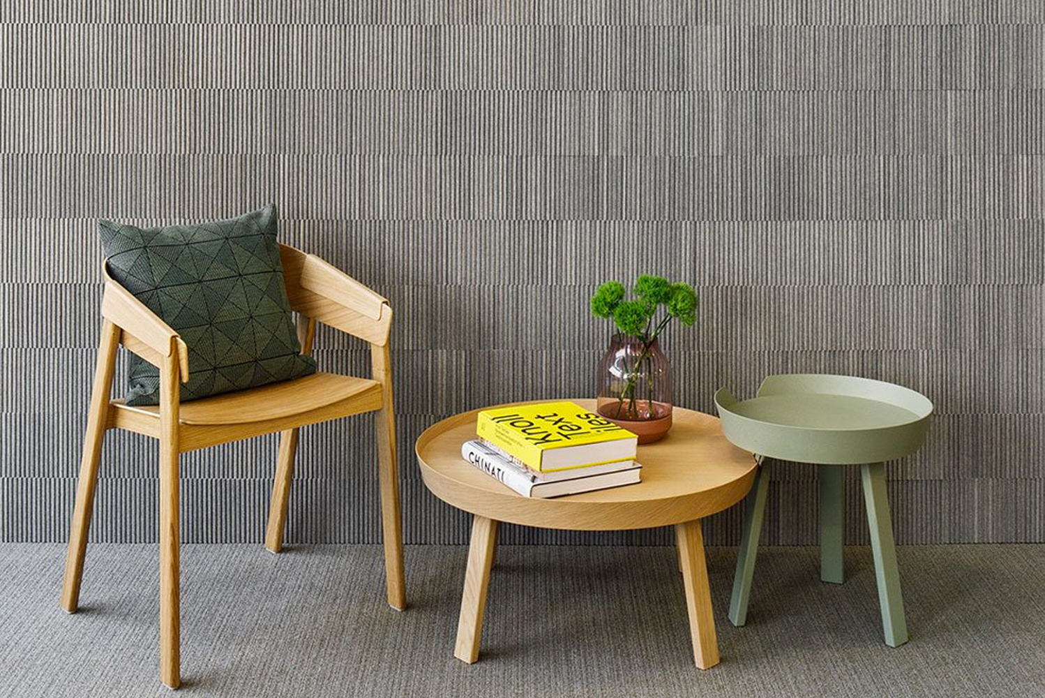 FilzFelt launched Ribsy, an acoustic tile-based system for wall-to-wall installations.
