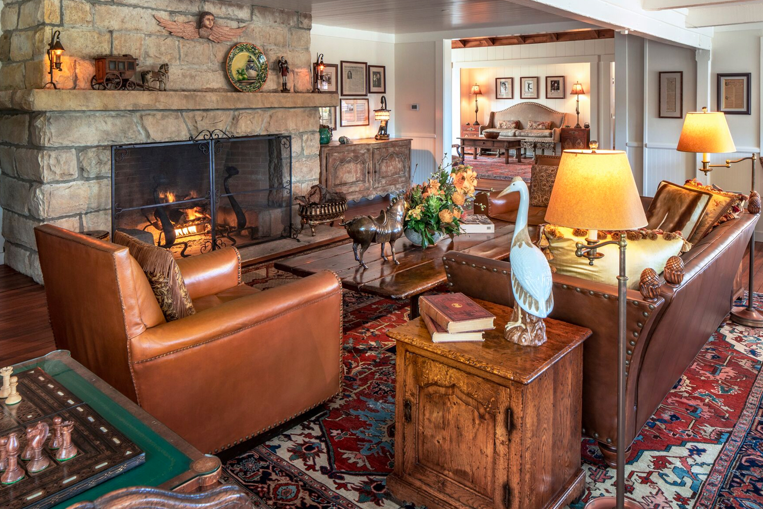 Ty Warner, owner of San Ysidro Ranch, helmed the interior design that was done in-house.