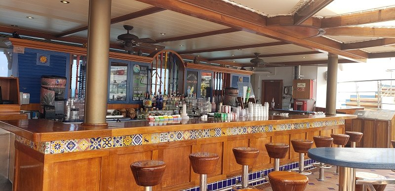 Carnival Sunrise's BlueIguana Tequila Bar. Photo by Susan J. Young
