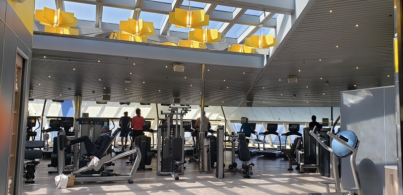 Updated gym on Carnival Sunrise. Photo by Susan J. Young