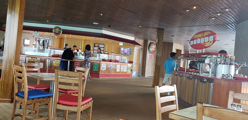 The new Guy's Burger Joint on Carnival Sunrise. Photo by Susan J. Young